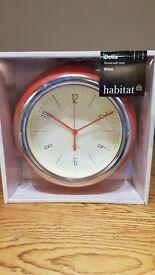Habitat Wall Clock - Unopened & Unused