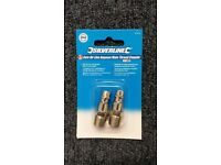 """2 pack of Euro air line ¼"""" BSP male thread Euro bayonet couplers. Overall length 32mm."""
