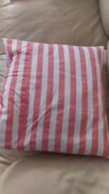 "21"" Duck Feather Cushion Pad White and Pink Pillow Scatter Cushion New"