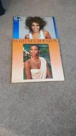 Whitney Houston vinyl LP x2