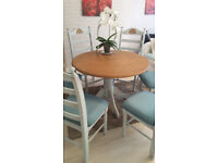 solid oak wood table from malysia with 6 chairs