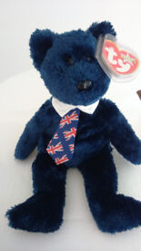 Ty Beanie Babies 'Pops' UK Tie Bear (New with tag)