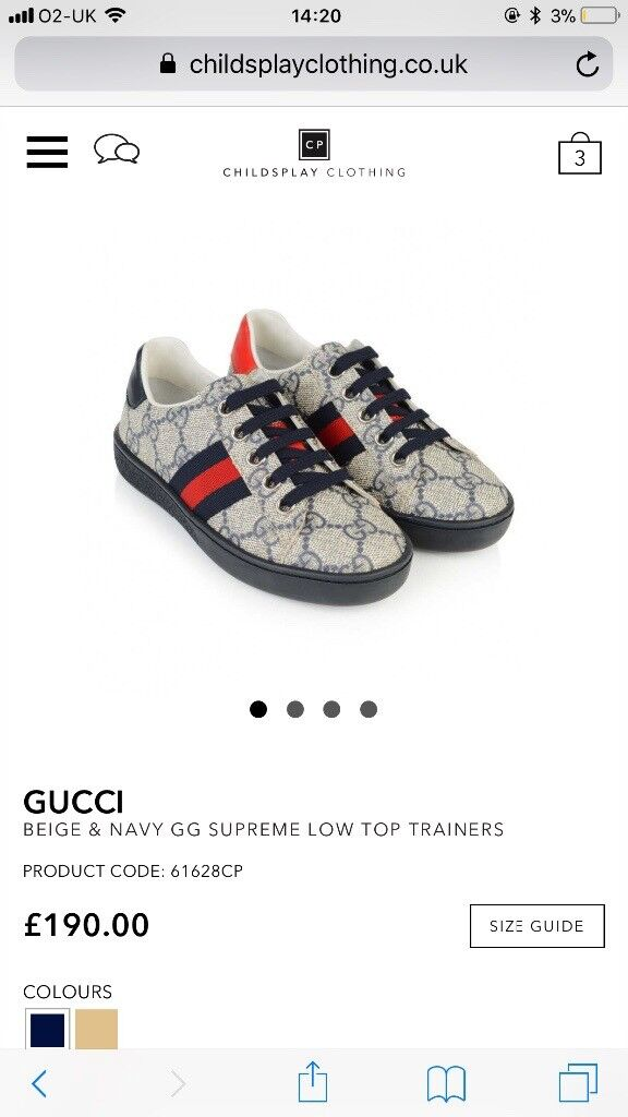 916818c9ab3 Gucci trainers for kids size 9 (27) unisex £170