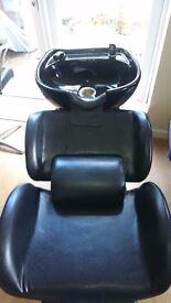 Hair basin and hair dressing hydraulic chair