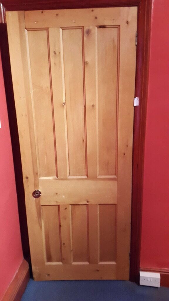 Reclaimed stripped pine 6 panel interior doors for sale in for Recycled interior doors