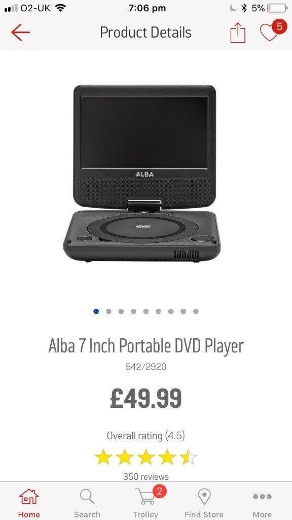 Portable DVD player brand new