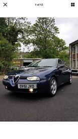 Alfa 156 really low mileage. .. new tyres worth 100 each
