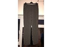 Printed Drawstring Trousers Size M