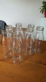 50 x 200ml MINI MILK VINTAGE Bottles PARTY PACK WEDDING RECEPTION FAVOURS
