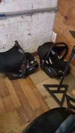 Maxi-Cosi CabrioFix Baby Car Seats and Bases x 2 - Good Condition