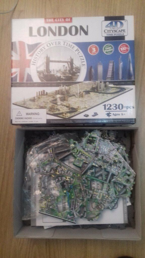 4D CITYSCAPE TIME PUZZLE JIGSAW LONDON