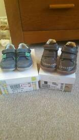 Boys Clarks first shoes size 5.5 F