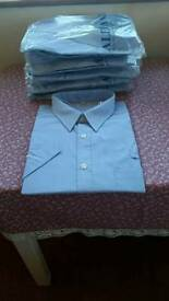 6 x Mens Short Sleeve Work/Casual Shirts 17.5 Collar