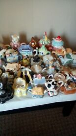 344 novelty teapots all different some small some big all excellent condition