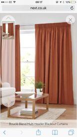 Next boucle blackout curtains