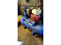 verry big broomwade petrol monster compressor honda engine 13hp offers new belt may swap px
