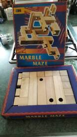 Wooden marble maze excellent xmas present