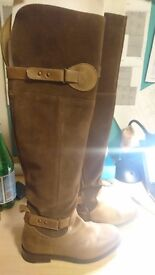Dorothy Perkins Brown Over-Knee Boots Size 5