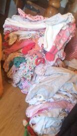 Big bundle of girls baby clothes