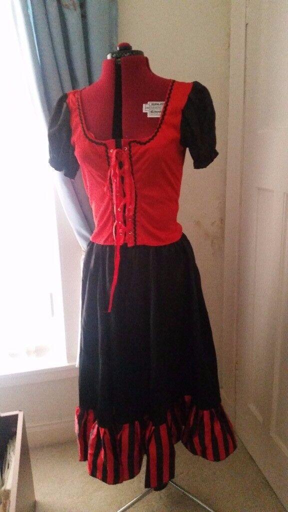 Saloon girl fancy dress costume