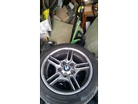 m sport alloy wheels with tyres