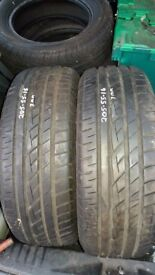 2 X 205-55-16 TOYO PROXES CF1 PART WORN TYRES BOTH 7MM TREAD FREE P&P OR FITTING IF COLLECTED