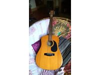Sigma DM-1st acoustic steel string guitar. Beautiful sound!