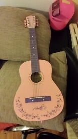 Burswood 30 inch Student Guitar Pink GOOD CONDITION for children