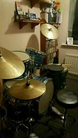 Drum set and stool