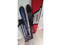 Blizzard Carving Skis (150 cm) with bag and Poles.