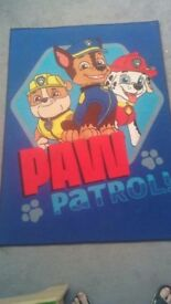 Paw patrol bedroom rug