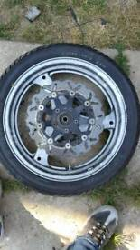 Suzuki gsxf front wheel + tyre
