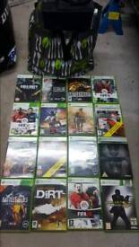 Xbox 360 and games and PS2 and games