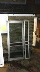 Double Glazed Silver Aluminium Door VGC Can deliver local