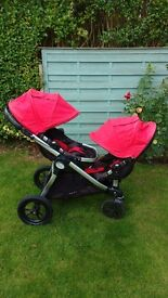 Baby Jogger City Select Double Red