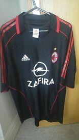 £20 Ac Milan adidas rare 2005/06 black shirt