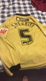 Match worn Tranmere Rovers shirt
