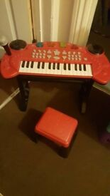 Children's keyboard and stool set