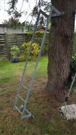 Tank or roof rack ladder