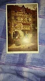 Antique postcard with stamps on for sale