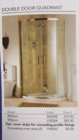 Brand New 800mm Quadrant Shower Enclosure By Blu Bathrooms RRP £370