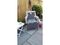 grey garden chair