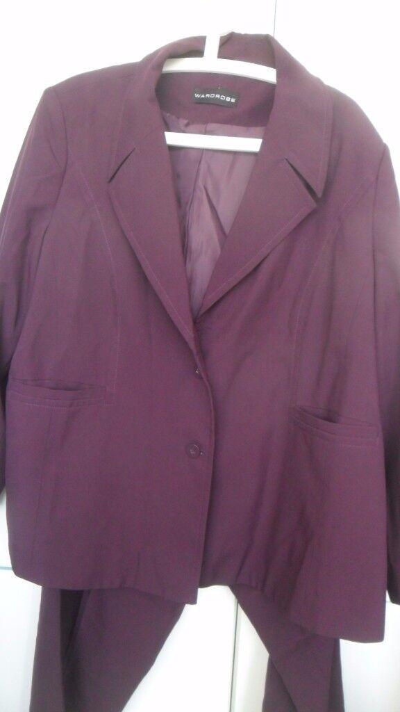 Bundle Ladies Clothes Large Sizes 26 28 30 XXL Suit Jackets Trousers - Bargain £10