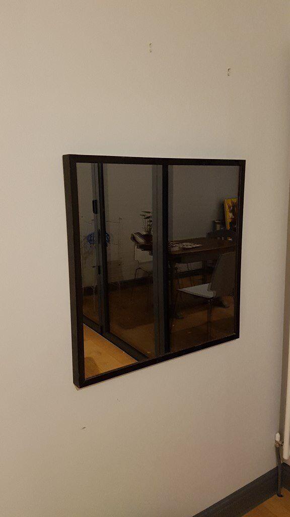 Wall mirror - black framed IKEA Stave (70cm x 70cm)