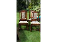 4 Old Charm Dining Chairs