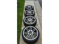 19' alloy wheels, alloys and tyres - Audi A4 S4 A3 S3 A6 (B6, B7, VW, Golf, Skoda, Seat)
