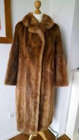 Mink Fur Coat and Hat