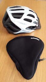 Cycling helmet & Gel seat cover
