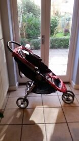 Baby Jogger - City Mini Red & Grey Stroller