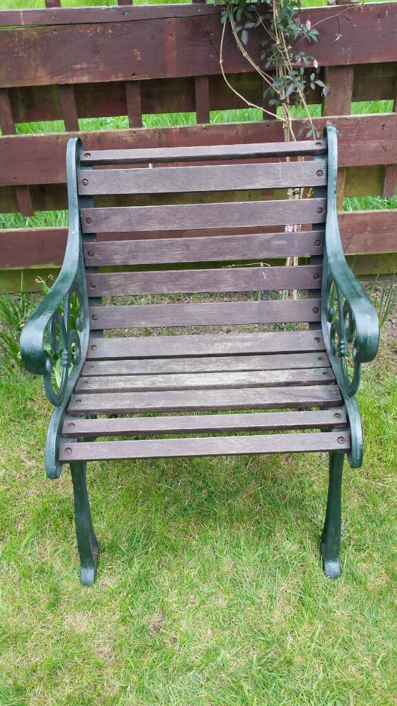 garden patio small bench chair cast iron in carrick knowe - Garden Furniture Edinburgh
